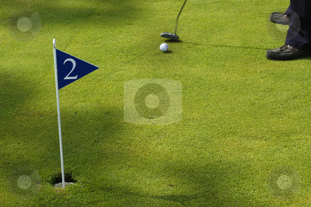 Golf stock photo, A small detail of a man playing golf by Rui Vale de Sousa