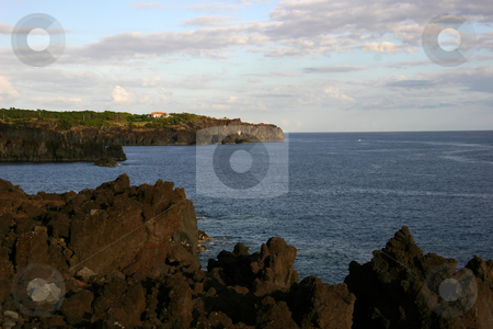 Coastal view stock photo, Azores rocks and the ocean by Rui Vale de Sousa