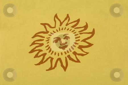 Sun stock photo, Sun draw in the wall by Rui Vale de Sousa