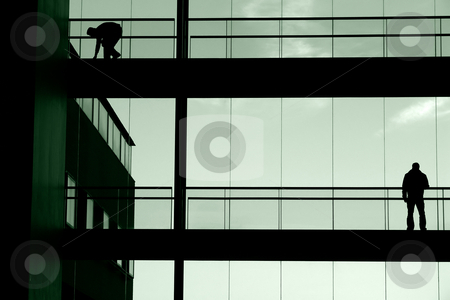 Lines stock photo, Male in the building by Rui Vale de Sousa