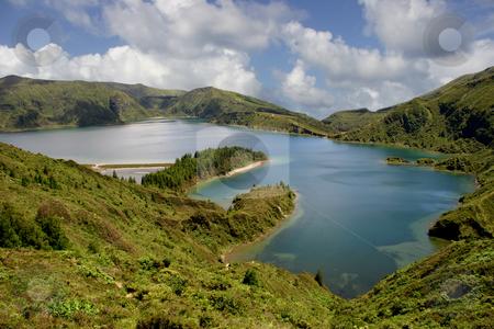 Lake stock photo, Azores mountain lake by Rui Vale de Sousa