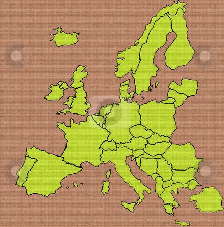 Europe stock photo, Map illustration by Rui Vale de Sousa
