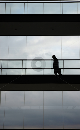 Worker stock photo, Young worker in the modern office building by Rui Vale de Sousa