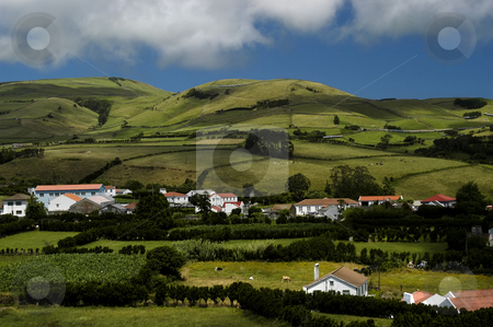 Village stock photo, Azores village by Rui Vale de Sousa