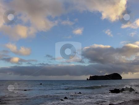 Island stock photo, Small island in azores by Rui Vale de Sousa