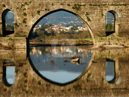 Bridge stock photo, Ancient bridge details by Rui Vale de Sousa