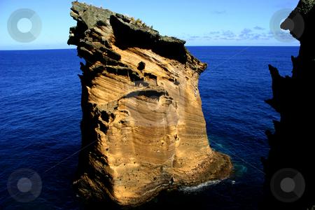 The rock stock photo, A big rock in the sea by Rui Vale de Sousa