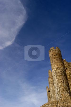 Castle stock photo, Portuguese ancient castle with a big cloud in the sky by Rui Vale de Sousa