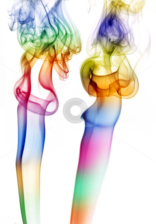 Couple stock photo, Abstract colored smoke in a white background by Rui Vale de Sousa