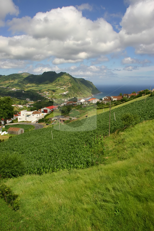 Village stock photo, Azores village by Rui Vale de Sousa