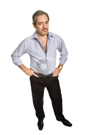 Mature stock photo, Mature casual man, isolated on white background by Rui Vale de Sousa