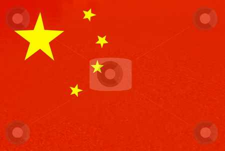 China stock photo, China red and yellow flag illustration, computer generated by Rui Vale de Sousa