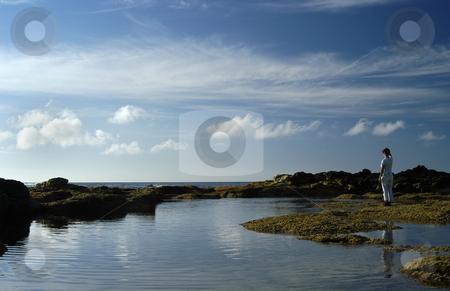 Girl stock photo, Girl on the coast by Rui Vale de Sousa