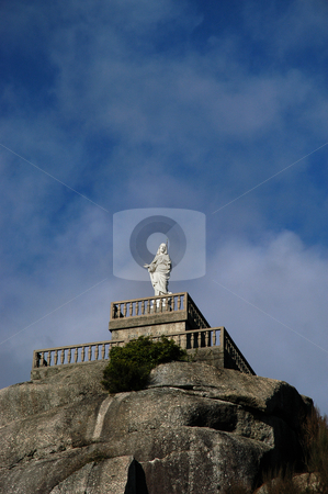 Jesus stock photo, Jesus statue on the mountains by Rui Vale de Sousa