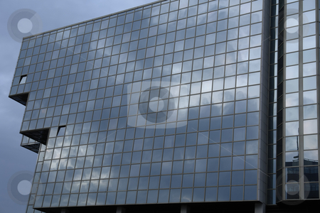 Modern stock photo, Modern office building detail with the sky by Rui Vale de Sousa
