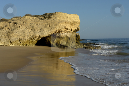Coast stock photo, Small beach at algarve, the south of portugal by Rui Vale de Sousa