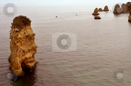 Rock stock photo, Rocks at the ocean in the south of portugal by Rui Vale de Sousa