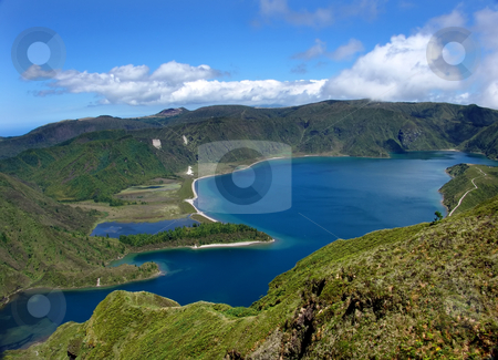 Lake stock photo, The lake of fire in sao miguel island at azores by Rui Vale de Sousa
