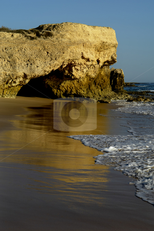 Mirror stock photo, Algarve natural beach at the south of portugal by Rui Vale de Sousa