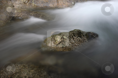 Waterfall stock photo, River waterfall detail among rocks, portuguese national park by Rui Vale de Sousa