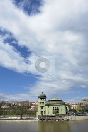 Castle stock photo, Ancient castle in the river at prague town by Rui Vale de Sousa