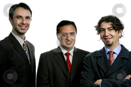 Business men stock photo, Three business men isolated on white background by Rui Vale de Sousa