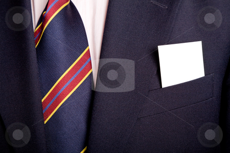 Card stock photo, Businessman with a blank business card in his pocket by Rui Vale de Sousa