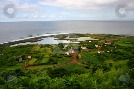 Village stock photo, Azores coast village by Rui Vale de Sousa