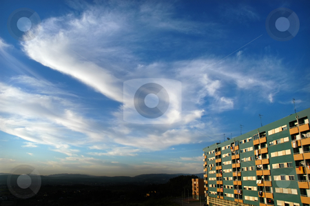 Building stock photo, Building and the sky by Rui Vale de Sousa