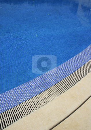 Pool stock photo, Swimming pool blue water in a summer day by Rui Vale de Sousa