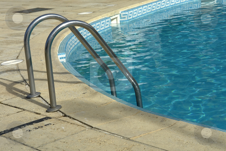 Summing pool stock photo, Summing pool blue water detail in summer time by Rui Vale de Sousa