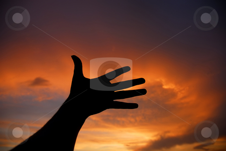 Hand stock photo, Hand at the sunset by Rui Vale de Sousa