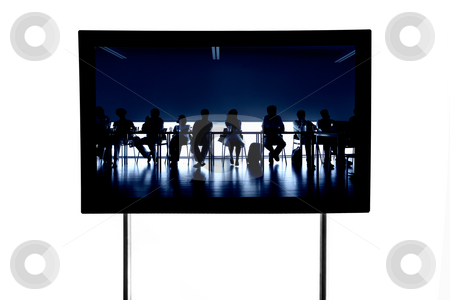 Television stock photo, Business people at a meeting in a modern television, isolated by Rui Vale de Sousa
