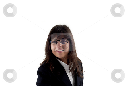 Woman stock photo, Young business woman isolated on white background by Rui Vale de Sousa