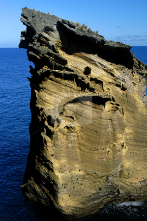 Coast stock photo, Rock on the ocean at azores islands by Rui Vale de Sousa