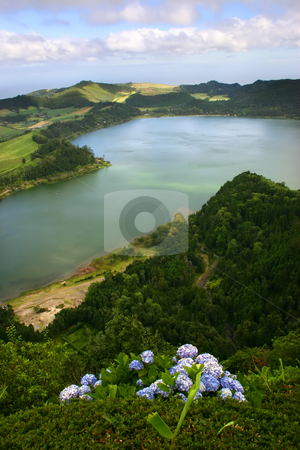 Lake stock photo, Azores lake of fire in s miguel island by Rui Vale de Sousa