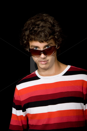 Casual man stock photo, Young casual man against a black background by Rui Vale de Sousa