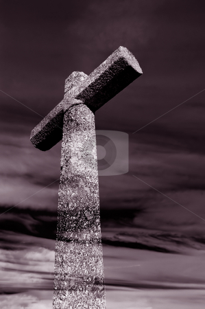 Cross stock photo, Big cross and the clouds at the sky by Rui Vale de Sousa