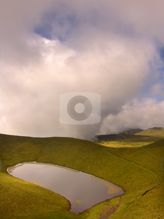 Lake stock photo, Azores island lake by Rui Vale de Sousa