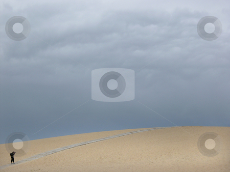Fotographer stock photo, Dune photographer by Rui Vale de Sousa
