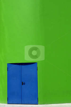 Blue door stock photo, Modern building details by Rui Vale de Sousa