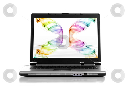 Laptop stock photo, A personal computer isolated on white background by Rui Vale de Sousa
