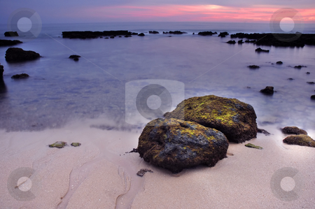 Dreamy stock photo, Long Exposure of sea over rocks - dreamy feel by Rui Vale de Sousa