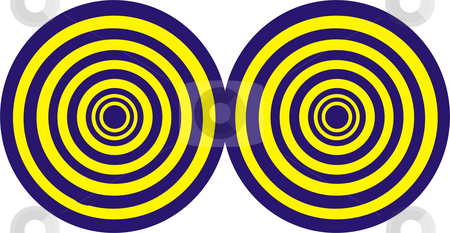 Circles stock photo, Some yellow and blue circles in white background by Rui Vale de Sousa