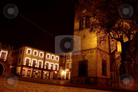Night stock photo, Night at the old city by Rui Vale de Sousa