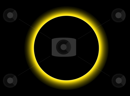 Eclipse stock photo, Illustration of a strange planet in black sky by Rui Vale de Sousa