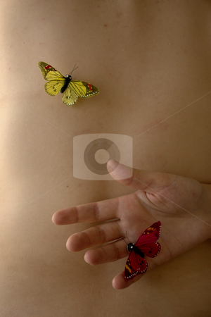 Butterfly stock photo, Butterfly in woman skin by Rui Vale de Sousa