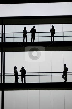 Workers stock photo, Young business men in the office building by Rui Vale de Sousa