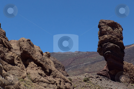 Mountain stock photo, Big rock at el teide in tenerife island by Rui Vale de Sousa