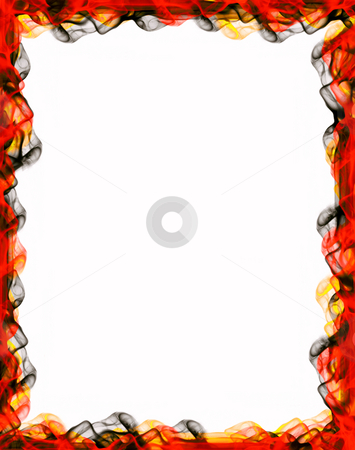 Frame stock photo, Decorative framework, colored smoke over white paper by Rui Vale de Sousa